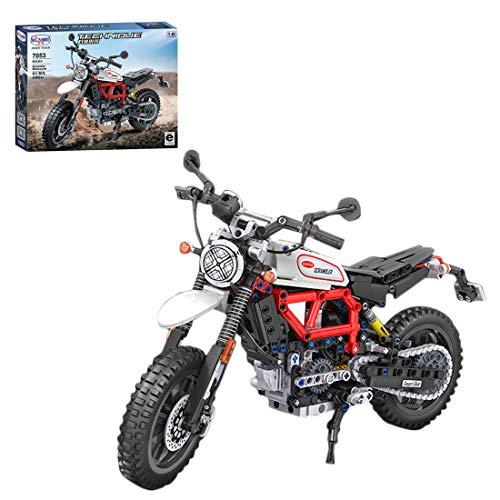 PARIO 611 piezas Custom Motorcycle Set Moto MOC Juego de construcción de moto de carreras para minifiguras de juguete de construcción compatible con Lego