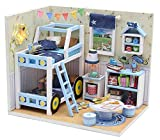 Webby DIY Kids Miniature Dollhouse Smart Bedroom with Furniture House