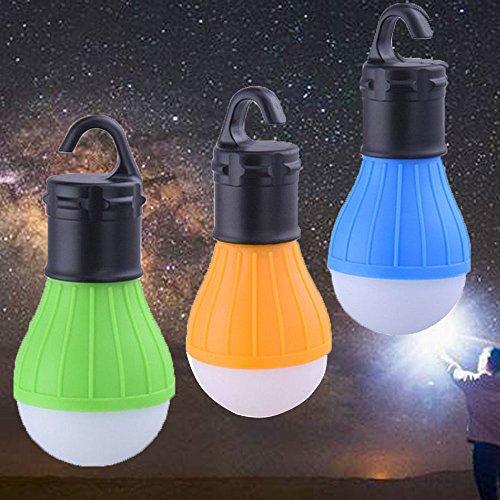 3 PCS LED Tent Lamp, HXLONG Camping Lantern Lamp Emergency Light Waterproof Portable Bulb for Hiking Fishing Camping Household Car Repairing