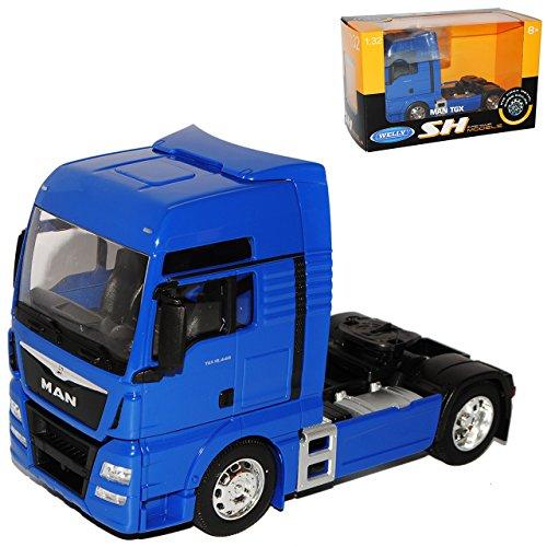 Welly Man TGX 18.440 2 Achsen Blau Ab 2007 Zugfahrzeug LKW Truck 1/32 Modell Auto