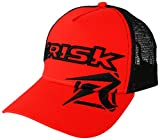 Risk Racing Unisex-Adult Trucker Hat (Red/Black, One size)