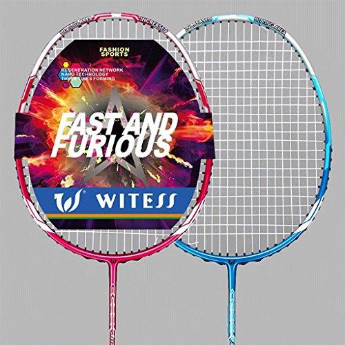 HLD All - Carbon Badminton Schläger Ultra - Light Nano Carbon Fiber Badminton Schläger Double Shot Attack und Verteidigung