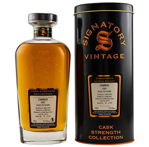 CAMBUS 1991-29 Jahre - SHERRY CASK - Signatory Vintage Cask Strength Whisky Collection