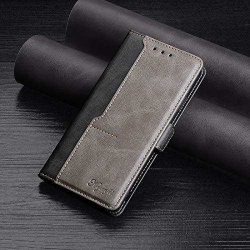 La selección de Cici para Samsung Galaxy A32 5G Retro Textura Contraste Color Hebilla Hebilla Horizontal Tiro Caja de Cuero con Soporte y Ranuras para Tarjetas y Billetera (Color : Black)