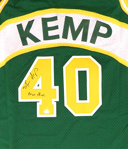 Seattle Sonics Shawn Kemp Autographed Green Adidas Hardwood Classics Jersey'Reign Man' MCS Holo Stock #125205