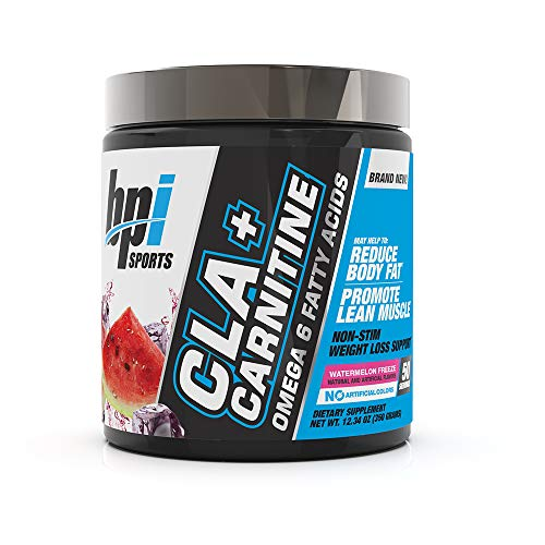 BPI Sports CLA + Carnitine – Conjugated Linoleic Acid – Weight Loss Formula – Metabolism, Performance, Lean Muscle – Caffeine Free – For Men & Women – Watermelon Freeze, 12.34 Ounce (Pack of 1)