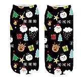 LEXUPE Weihnachtssocken, Weihnachten Socken Festlicher Baumwolle Socken Super Warm Socken für...