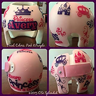 CECILIAPATER Personalized Cranial Band Decals - Every Princess Needs a Crown Design - Plagiocephaly Helmet Stickers
