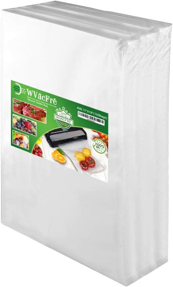 WVacFre 100 Gallon Size11x16Inch 4mil Saver Milwaukee Mall Sealer B Vacuum National uniform free shipping Food
