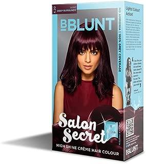 BBLUNT Salon Secret High Shine Crème Hair Colour, Deep Burgundy 4.20, 40g