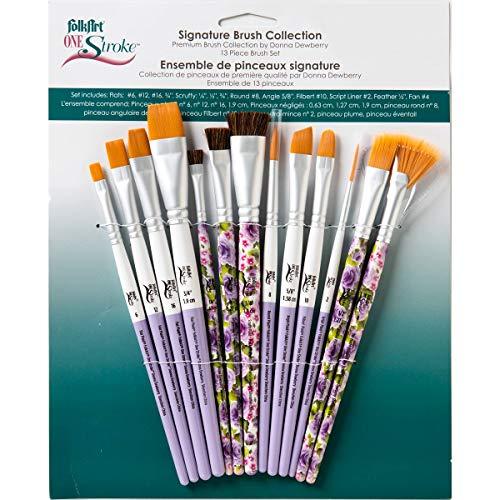 FolkArt One Stroke Signature Collection Paint Brush Set, 13 Piece