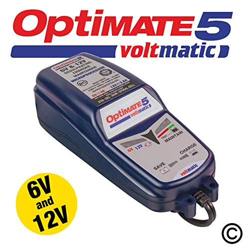 Chargeur Optimate 5, double tension 6V/4A + 12V/2,8A