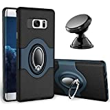 Samsung Galaxy S7 Edge Case - eSamcore Ring Holder Kickstand Cases + Dashboard Magnetic Phone Car Mount [Navy Blue]