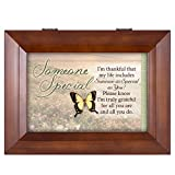 Cottage Garden Someone Special Butterfly Grateful Wood Finish Jewelry Music Box - Plays Tune You are My Sunshine