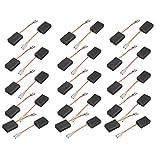 SOURCING MAP sourcingmap 15 pares de 43x15x10x5mm Escobillas de carbón para motores de taladro percutor eléctrico sin muelle