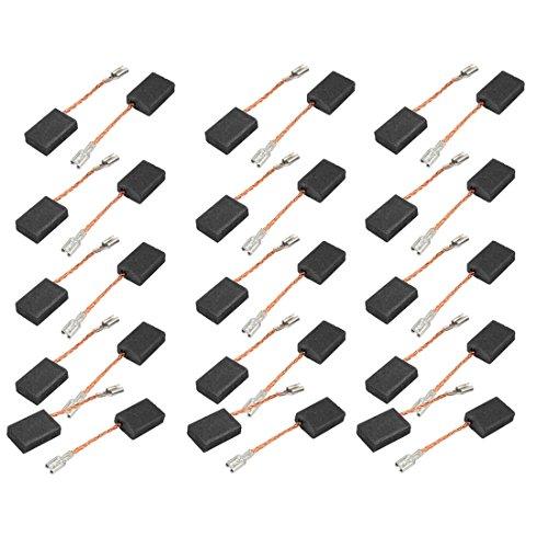 sourcing map sourcingmap® 15 pares de 43x15x10x5mm Escobillas de carbón para motores de taladro percutor eléctrico sin muelle