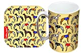 Greyhound mug and coaster gift set