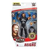 WWE Élite Figura Roman Reigns, muñeco articulado de juguete con accesorios (Mattel GVC04)