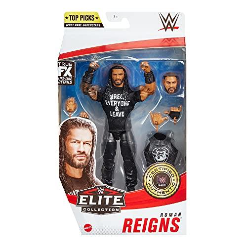 WWE Élite Figura Roman Reigns, muñeco articulado de juguete con accesorios (Mattel...