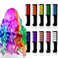 10 Color Hair Chalk For Girls Bright Mini Hair Chalk Combs Temporary Hair Color for Ages 4 5 6 7 8 9 10 Birthday Gifts Festival Party Cosplay Halloween Christmas New Years for Girls Kids