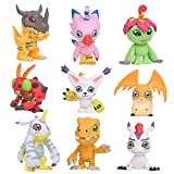 Yangzou 9 Piezas 4-5 Cm Cute Anime Digimon Adventure Agumon Patamon Tailmon Gomamon Piyomon Gabumon Tentomon Palmon PVC Figura De Acción Decoración De La Torta