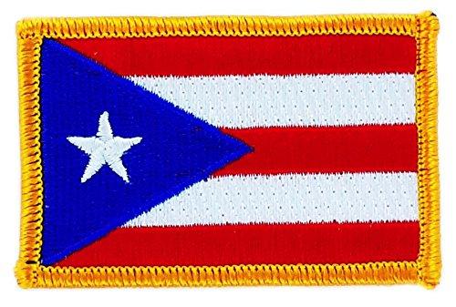 Applicatie om op te strijken, geborduurd, vlag Puerto Rico