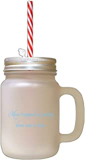 Light Blue Man Trapped In Pantry Has Ass In Jam Frosted Glass Mason Jar With Straw