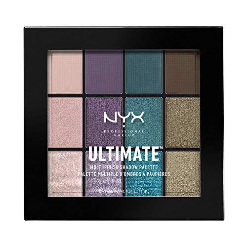 NYX Professional Makeup Ultimate Multi-Finish Shadow Palette, Lidschatten-Palette, Smoke Screen 07