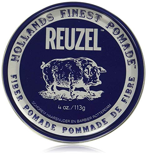 Reuzel Fiber Pomade/Firm, Smooth hold/Low shine/Water soluble/Works on all hair types/Gives a natural finish/Controls the curliest, thickest and most unruly hair 4 oz / 113 g