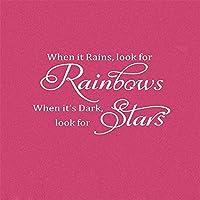 ウォールステッカーデカール 虹を探すために雨が降ると、リビングルームに触発されて星を探すために雨が降ります 壁画家の装飾