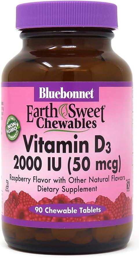 Bluebonnet Popular overseas Nutrition Earth Sweet Max 78% OFF Vitamin IU Tab Chewable D3 2000