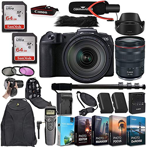 Best Buy! Canon EOS R Mirrorless Digital Camera with RF 24-105mm f/4L is USM Lens + Deluxe Accessori...