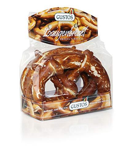 Brezel Tirolesi Gustos, Kit da 4 confezioni da 150 g, il pane speciale intrecciato a mano, perfetto per uno snack veloce, per laperitivo e insieme ai würstel bianchi