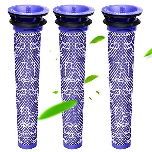 Filter für Dyson,Waschbar Replenishment Pre-Filter für Dyson DC58 DC59 DC61 DC62 DC74 V6 V7 V8 Staubsaugerzubehör Teile und Zubehör Ersetzt 3 Stück