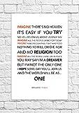 John Lennon, Imagine, Songtext, Poster, ungerahmt