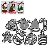 Fustelle per decorazioni natalizie, in metallo, per scrapbooking, fai da te, in acciaio al carbonio, modello per goffratura di carta