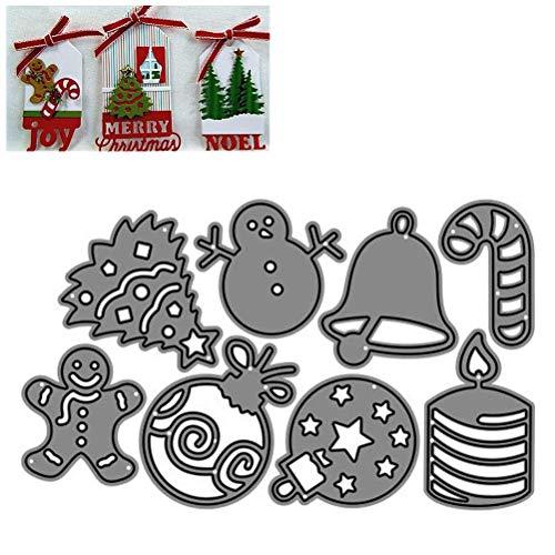 Fustelle da taglio per decorazioni natalizie Stencil in metallo Strumento per scrapbooking, fai-da-te Stencil per carta di carta Decor Die Cut Craft Modello di goffratura in acciaio al carbonio