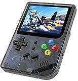 Anbernic Consolas de Juegos Portátil , RG300 Consola de Juegos Retro Game Console OpenDingux Tony System , Built-in 3007 Juegos, 3.0 Pulgadas Videojuegos Portátil - Transparent Negro