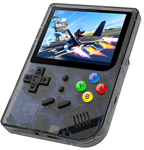 Anbernic Console di Giochi Portatile , RG300 Console di Giochi Retro OpenDingux Tony System , Built-in 3007 Classic Giochi - Transparent Nero