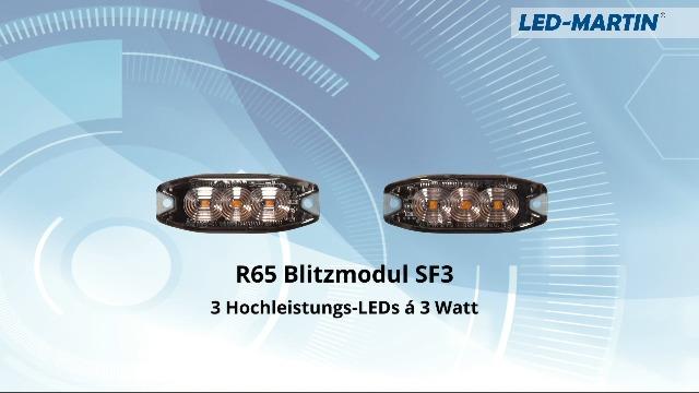 Led Martin 2er Sparset R65 Blitzmodul Sf6 Super Flach 12v 24v Mit Ece R65 Zulassung Als Frontblitzer Stauwarner Heckwarnanlage Für Pkw Lkw Geeignet Auto