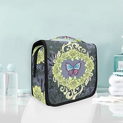 Art Papillon Noir Trousse De Toilette Sac Pliable Suspendu Cosmétique Sac Rangement Maquillage sacs pour Voyage Femmes Filles