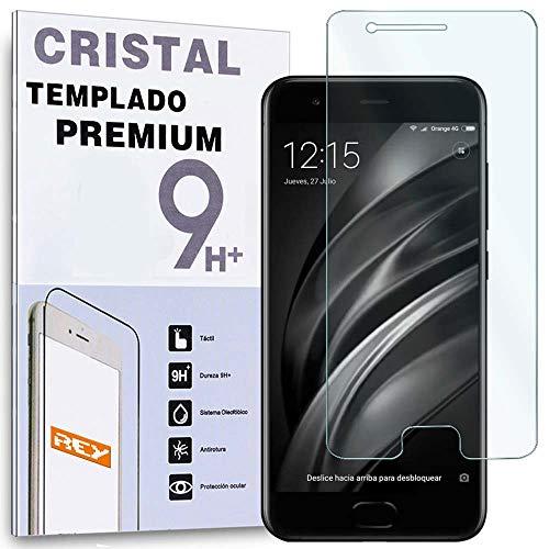 REY Protector de Pantalla para XIAOMI MI6 / MI 6, Cristal Vidrio Templado Premium
