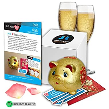 DATE NIGHT Box- Our Special Goals Prosperity Pig is adorable and the perfect Date Night. This Creative Date Night for Couples is Ready to Open and Enjoy any time of year.