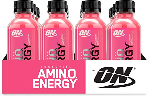 Optimum Nutrition Amino Energy Ready-to-Drink, Strawberry Cooler, 12 Count