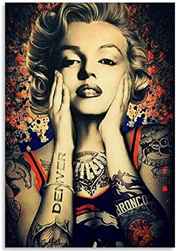 NSRJDSYT Marilyn Monroe Denver Broncos Posters Papery Jigsaw Puzzle 1000 Piezas Juguetes para Adultos Juego de descompresión Zy612Tm