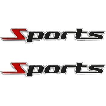 in metallo cromato con logo adesivo 3D con scritta Sports phil trade per tuning