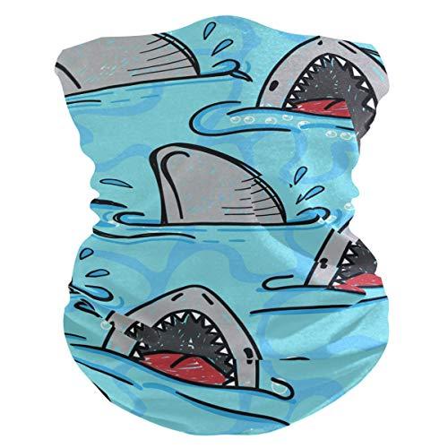 Balaclava unissex com estampa de tubarão, poeira, vento, sol, mágica para homens, mulheres, meninos e meninas