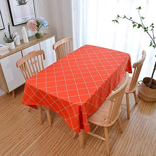 EDCV-tafelkleed Polyester katoen Natuurlijk klaar Dropshipping-raster Tafelkleed Borduur-tafelkleden Effen tafelkleed Strip Kerstmis, A