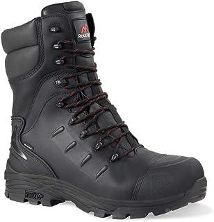 Rock Fall RF540 Monzonite High Leg Internal Metatarsal Waterproof Safety Boot with Side Zip Size 10