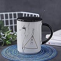 ノルディックインズマーブルセラミックカップマグコーヒーカップ400mlA